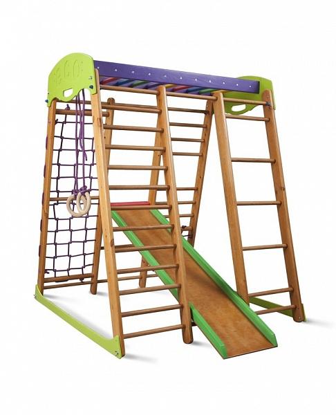 Деревянный спорткомплекс для детей: гармонично и экологично 100