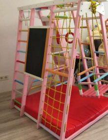 детский спортивный комплекс уголок Babygrai розовый