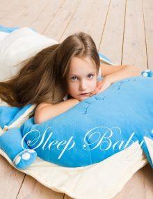 слипик Зайчик Синий детский спальный мешок