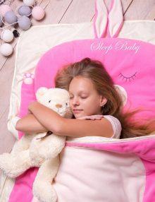 Слипик Зайка розовый детский спальник