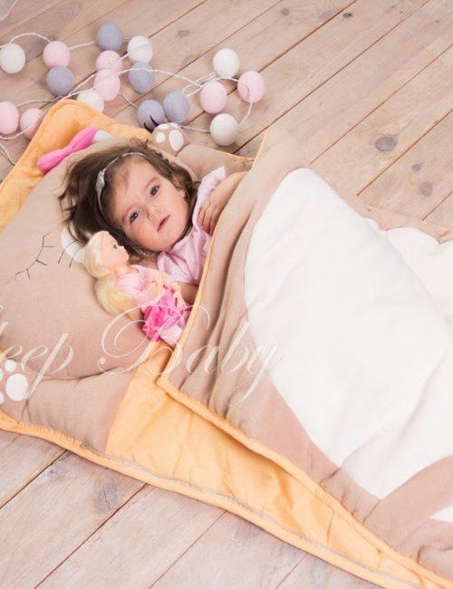 слипик детский спальный мешок Кошечка