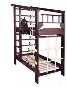Двухъярусная спортивная кровать Капитан в тонировке