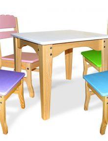 Комплект детский столик и 4 стульчика