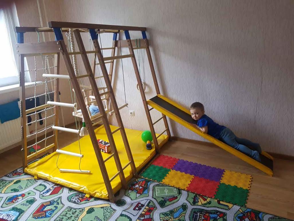 Детский спортивный комплекс Чемпион Деревянный. Отзывы Логика Спорта