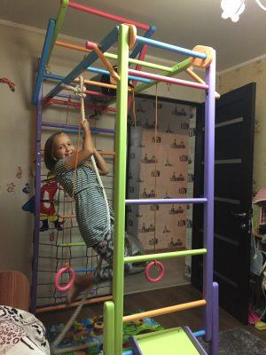 """Детский спортивный уголок """"Лиана"""" с модульной шведской стенкой"""