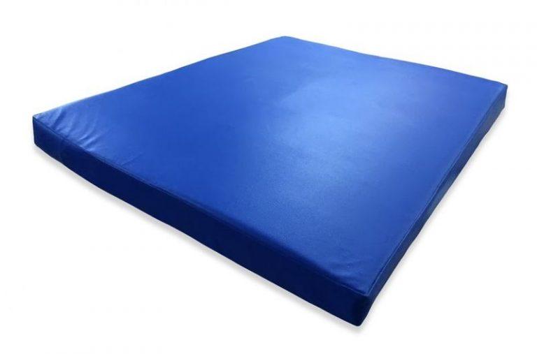 Гимнастический мат синий 80х100х8см
